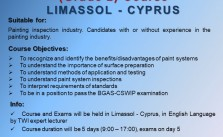 BGAS-CSWIP Painting Inspector  (Grade 2) – Cyprus 29/06/2020